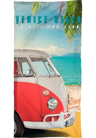 Volkswagen Strandtuch »Venice Beach«, (1 St.), mit Bulli kaufen