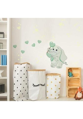 Wall-Art Wandtattoo »Elefantenbaby Leuchtbilder« kaufen