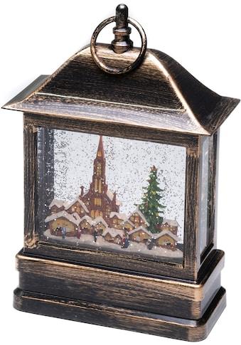 KONSTSMIDE LED Dekolicht, Warmweiß, LED Schneelaterne mit Kirche und Weihnachtsmarkt... kaufen