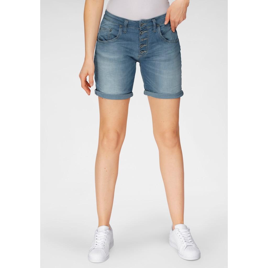 Please Jeans Jeansshorts »P 88A«, mit markanter Knopfleiste
