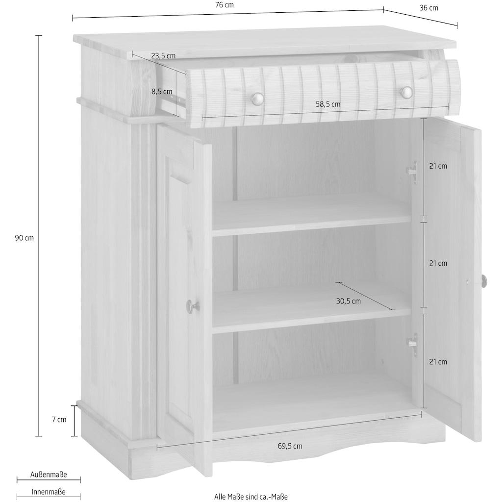Home affaire Unterschrank »Teresa«, Breite 76 cm, 2 Türen, 1 Schublade & Metallgriffe