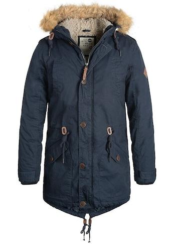 Solid Winterjacke »Clark Teddy«, warme Jacke mit abnehmbarem Kunstfellkragen kaufen