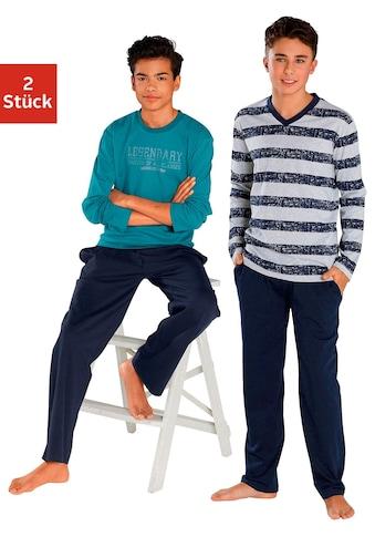 le jogger® Pyjama, (2 tlg., 2 Stück), in langer Form kaufen