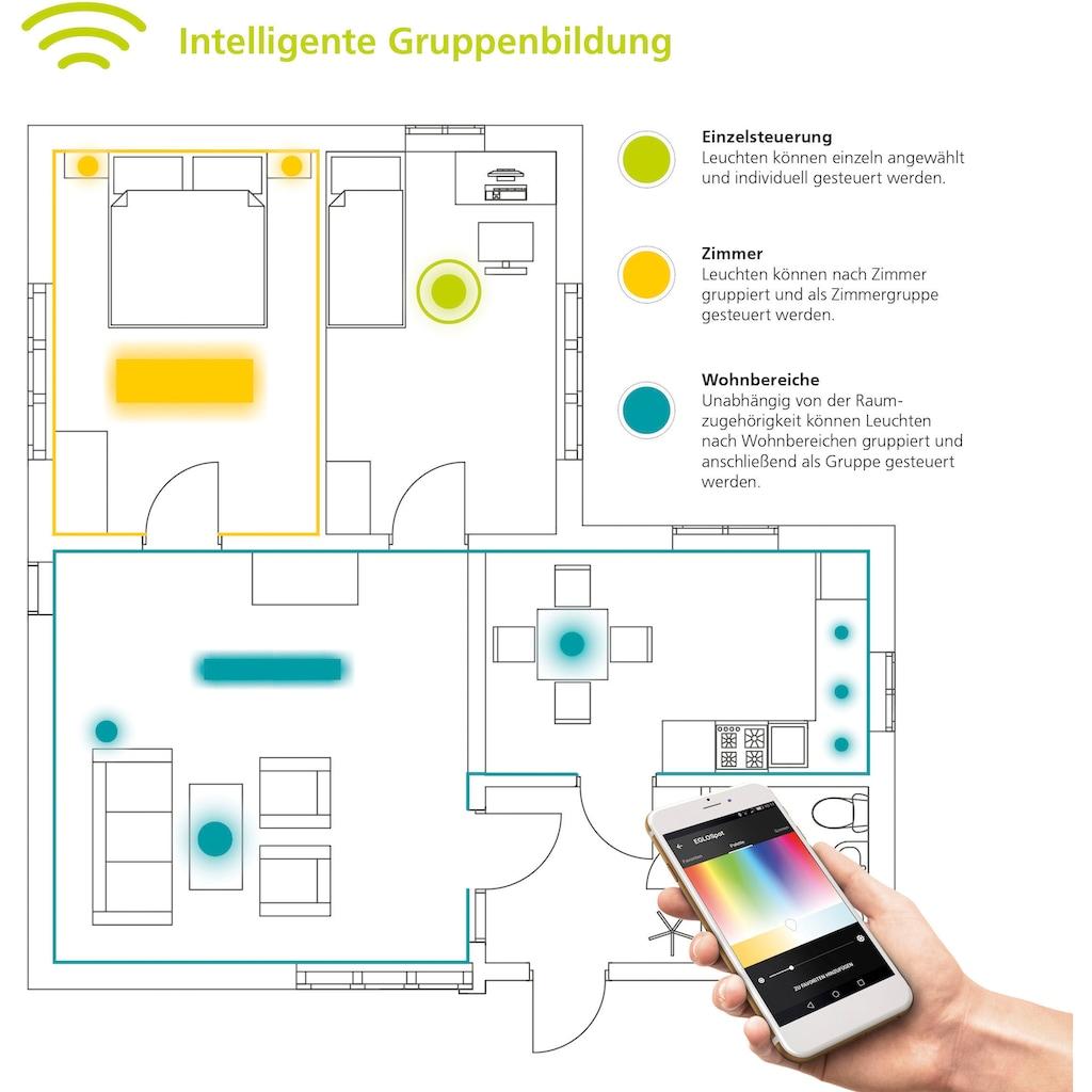 EGLO LED Deckenleuchte »COMPETA-C«, LED-Board, Neutralweiß-Tageslichtweiß-Warmweiß-Kaltweiß, EGLO CONNECT, Steuerung über APP + Fernbedienung, BLE, CCT, RGB