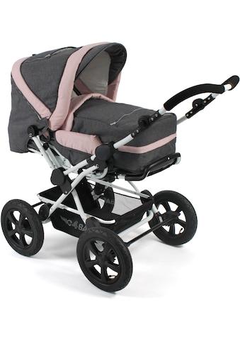 CHIC4BABY Kombi-Kinderwagen »Viva, Melange Rosa«, 15 kg kaufen