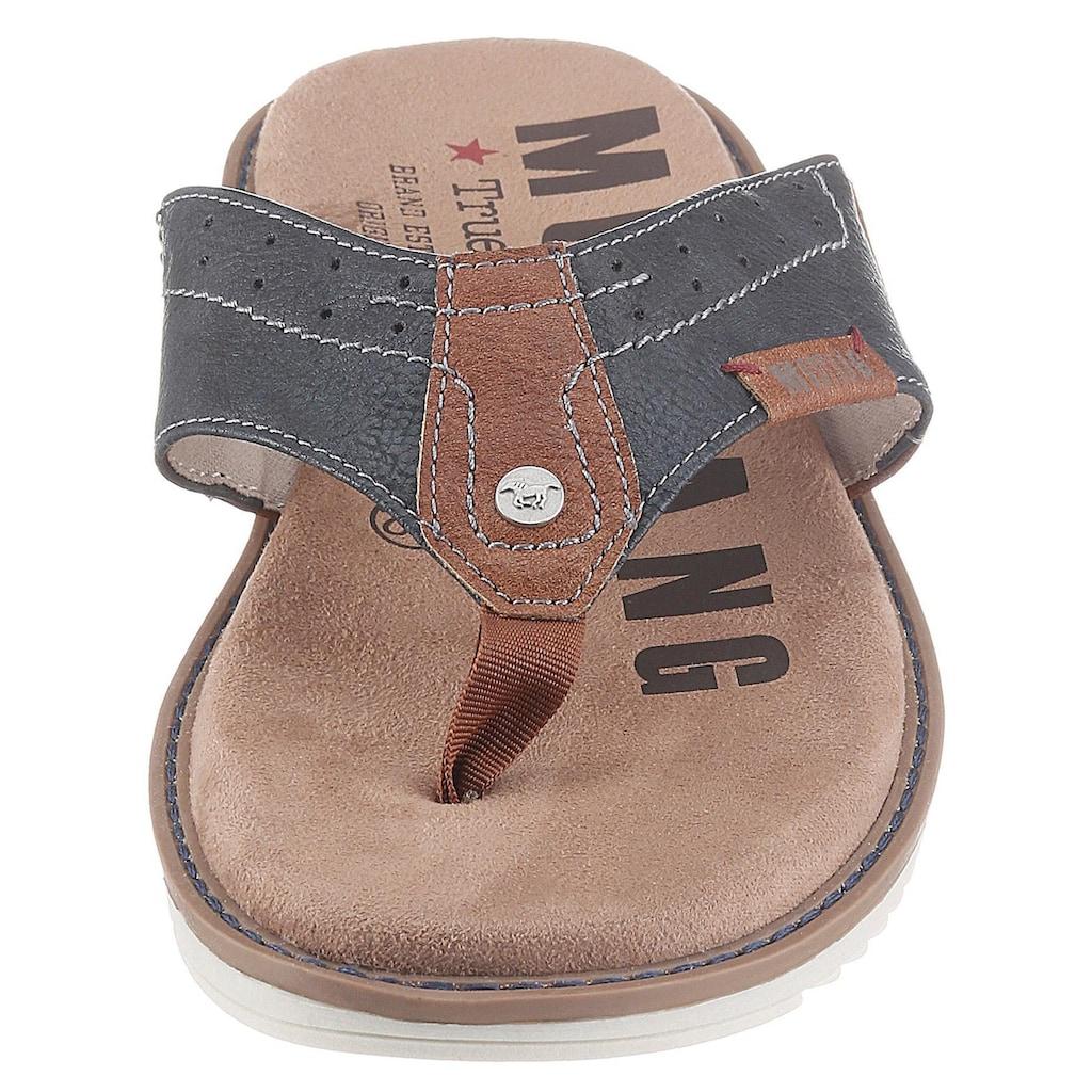 Mustang Shoes Zehentrenner, mit weichem Zehensteg