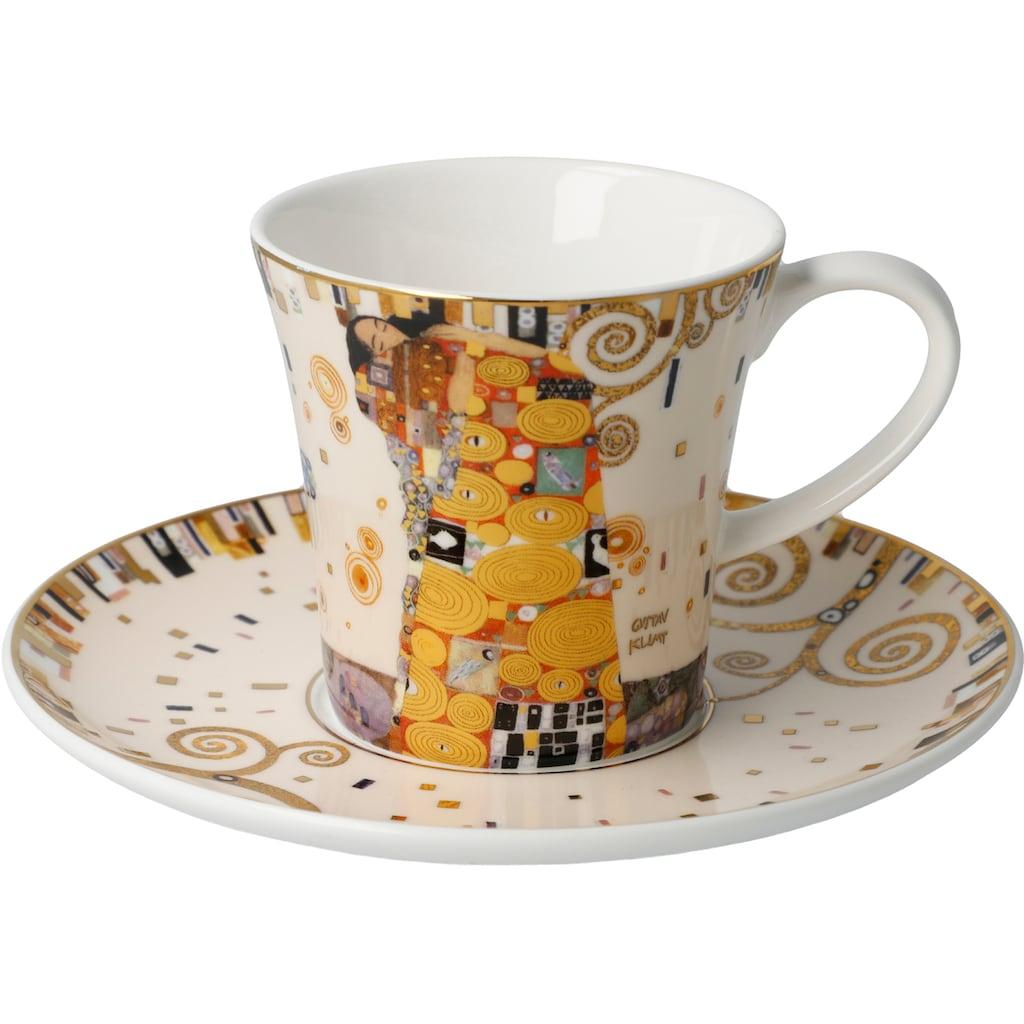 Goebel Becher »Die Erfüllung«, von Gustav Klimt, Sammlerstück