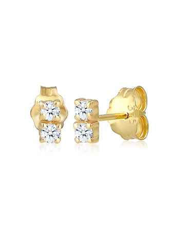 Diamore Paar Ohrstecker »Ohrstecker Duo Diamant (0.12 ct.) 375 Gelbgold« kaufen