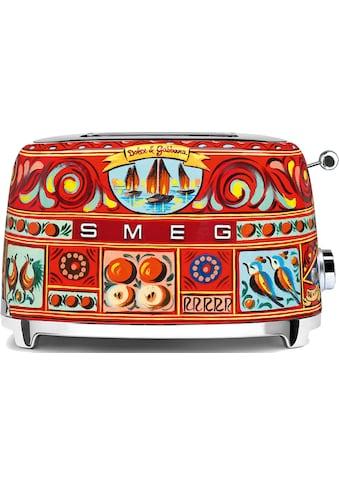 DOLCE & GABBANA Sicily is my Love Toaster »TSF01DGEU Smeg«, 2 kurze Schlitze, 950 W kaufen