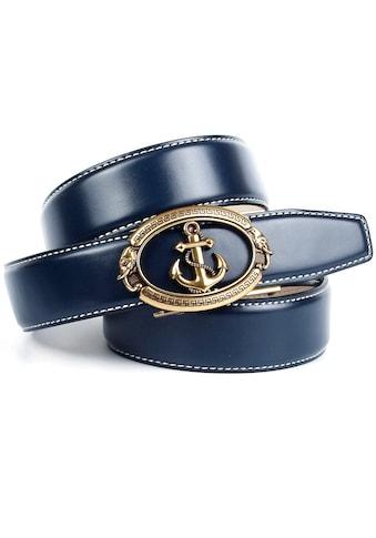 Anthoni Crown Ledergürtel, mit Anker-Schließe kaufen