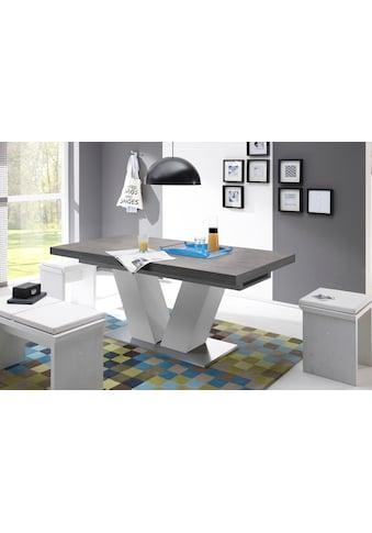 Esstisch »Komfort D«, mit V-Gestell in weiß und mit Auszugsfunktion, Breite 180-260 cm kaufen
