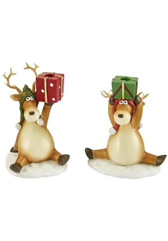 Kerzenhalter »Geschenke«, aus Polyresin, Höhe ca. 11,5 cm kaufen