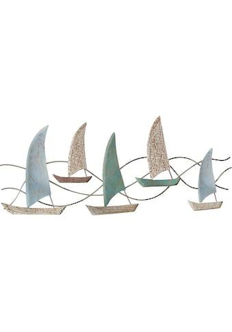 Schneider Wanddekoobjekt »Segelboote«, Wanddeko, aus Holz, maritim kaufen