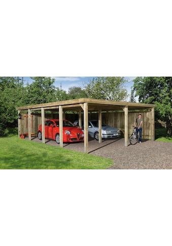 weka Doppelcarport »Gr. 3«, Holz, 270 cm, braun kaufen