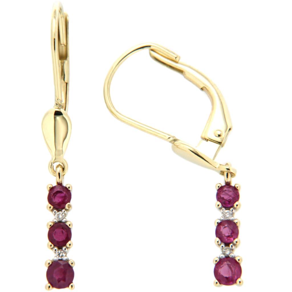 Firetti Paar Ohrhänger »elegant«, mit Rubinen und Brillanten