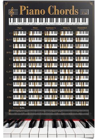 Reinders! Poster »Poster Klavier Akkorde«, Instrumente, (1 St.) kaufen