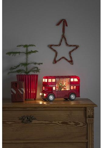 "KONSTSMIDE LED Laterne, LED-Modul, 1 St., Warmweiß, LED Wasserlaterne, rot, ""Bus mit... kaufen"