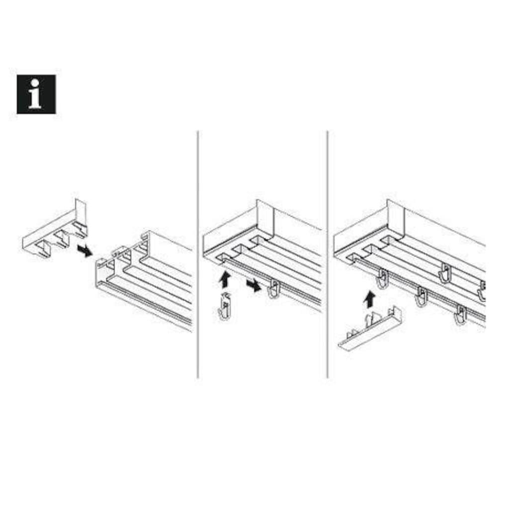 GARDINIA Gardinenstangen-Endstück »Endstück mit Ausklinkung 3-läufig«, Serie Flächenvorhang Technik Atlanta