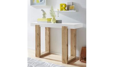 INOSIGN Konsolentisch »Solid«, mit schönem Beingestell und einer weißen Tischplatte,... kaufen