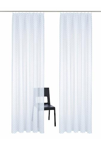 Home affaire Gardine »Hannah«, transparent, Leinen Optik mit Punkten kaufen