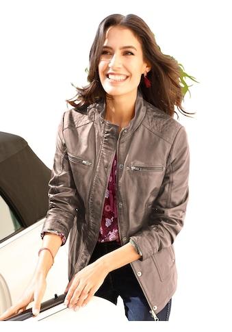 Mainpol Leder - Jacke in trendiger Used - Optik kaufen