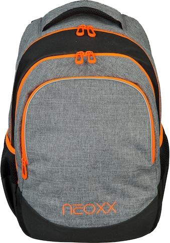 neoxx Schulrucksack »Fly, Stay orange«, Reflektionsnaht, aus recycelten PET-Flaschen kaufen