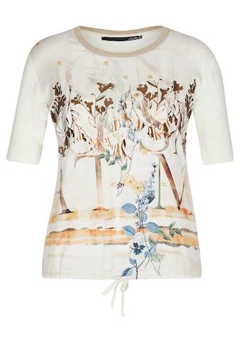 LeComte T-Shirt, mit Muster-Mix und Lettering kaufen