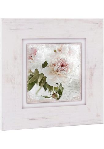 Home affaire Holzbild »Rosa Blume«, 40/40 cm kaufen