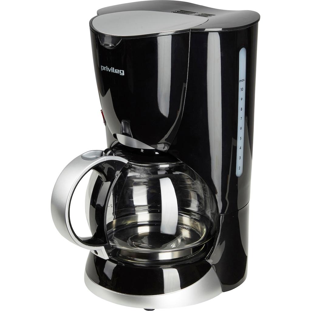 Privileg Filterkaffeemaschine »Max. 1080 Watt«, Papierfilter, 1x4, schwarz