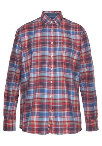 FYNCH-HATTON Flanellhemd, mit kleiner Logostickerei kaufen