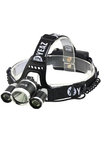 YEAZ Stirnlampe, mit 3 LEDs, Akku und USB Ladefunktion kaufen