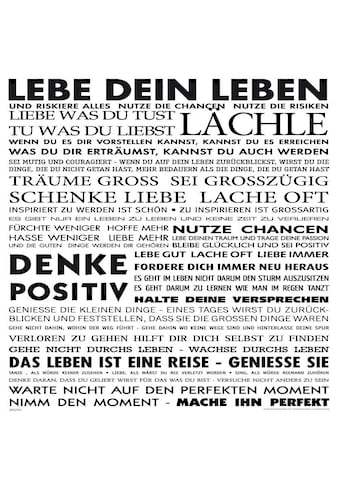 Home affaire Deco-Panel »Lebe dein Leben«, 50/50cm kaufen