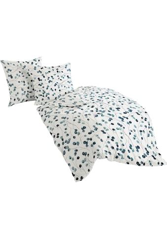 BIERBAUM Bettwäsche »Blue Flower«, mit floralem Design kaufen