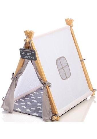 MUSTERKIND® Puppen Zelt »Tipi Barlia, natur/weiß/grau« kaufen