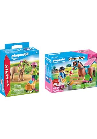 Playmobil® Konstruktions-Spielset »Mädchen mit Pony (70060), Special Plus und... kaufen