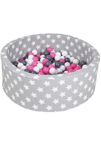 Knorrtoys® Bällebad »Soft, Grey white stars«, mit 300 Bällen creme/grey/rose; Made in... kaufen