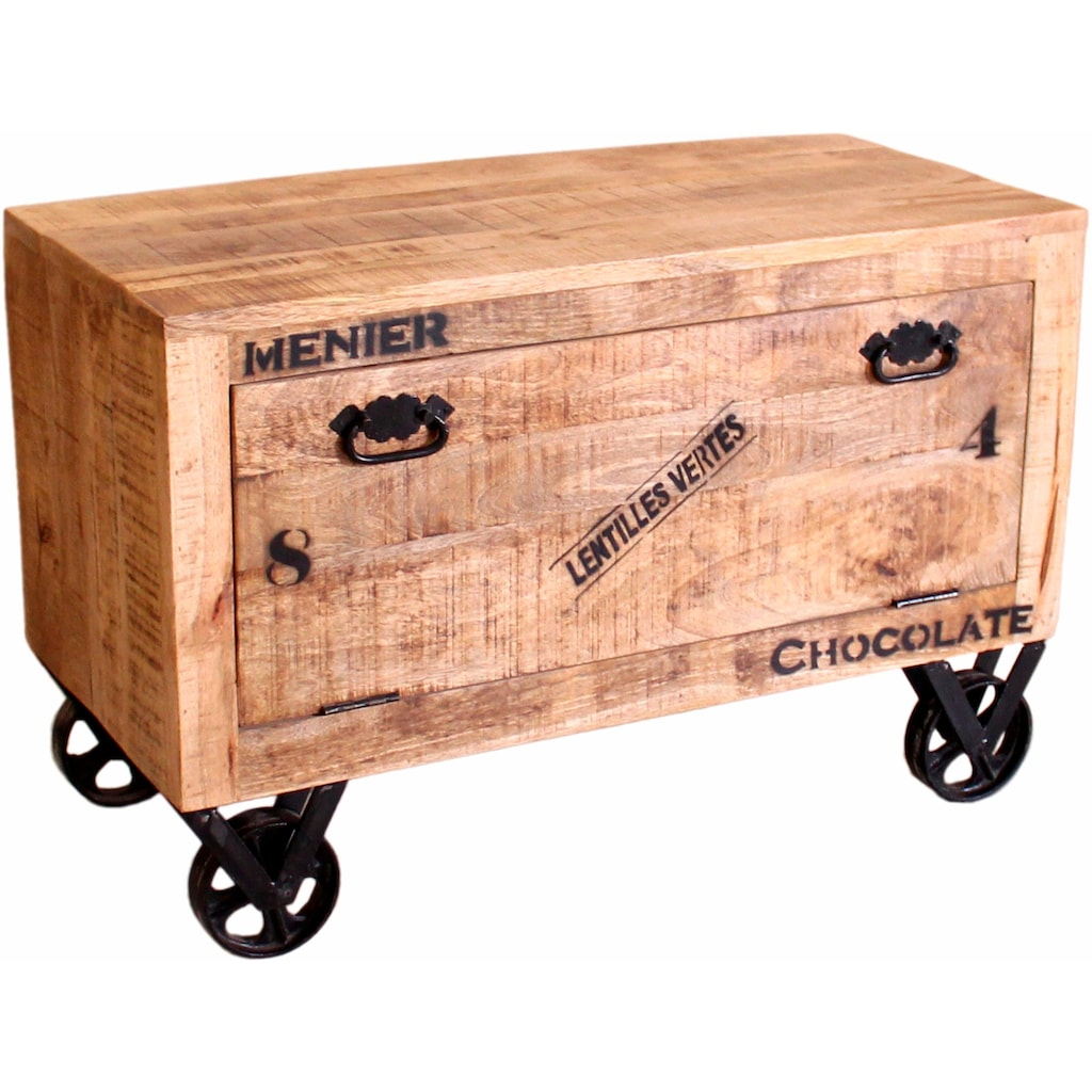 SIT Schuhschrank, im factory design, Breite 85 cm, Shabby Chic, Vintage