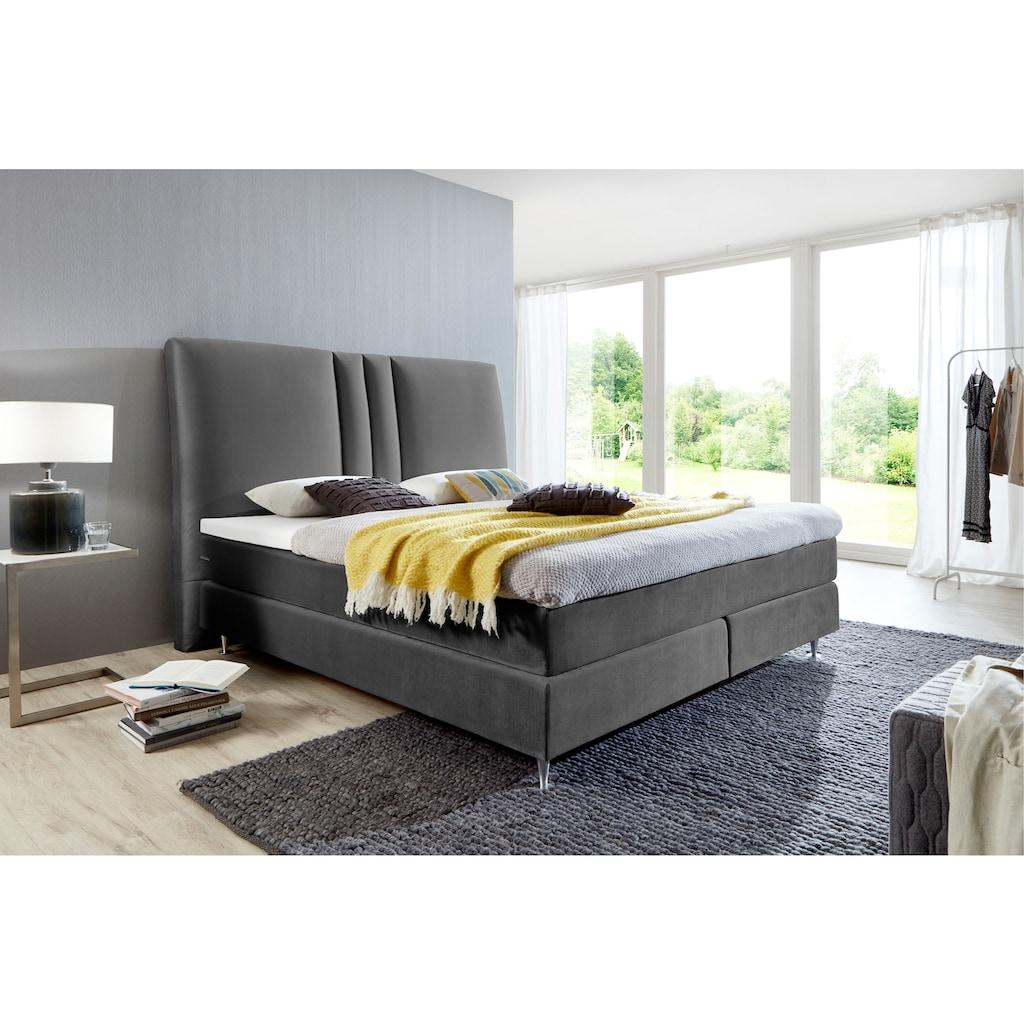 ATLANTIC home collection Boxspringbett, mit Topper und hohen Kopfteil