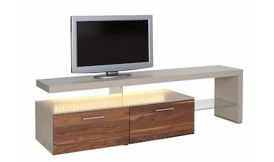 GWINNER Lowboard »SOLANO«, Lack fango, mit 2 Schubladen, Breite 195 cm kaufen