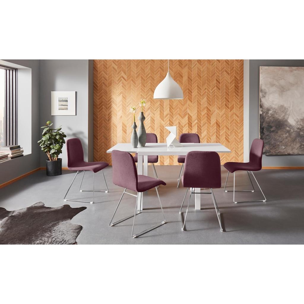 Places of Style Esszimmerstuhl »Ciao«, 2er Set, in zwei verschiedenen Bezugsqualitäten, 4 unterschiedliche Farbvarianten, Sitzhöhe 46 cm