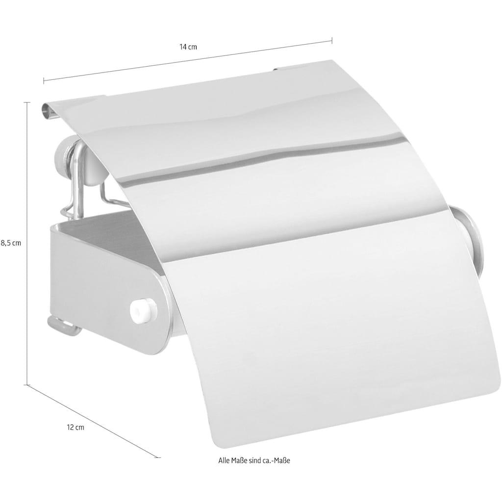 WENKO Toilettenpapierhalter »Premium Plus«, mit Deckel