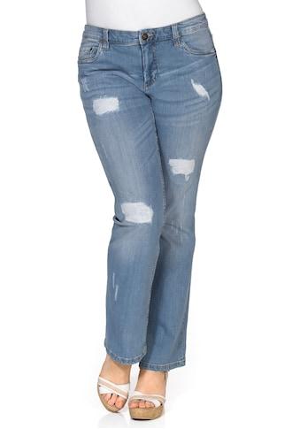 Sheego Bootcut-Jeans, mit Destroyed- und Used-Effekten kaufen