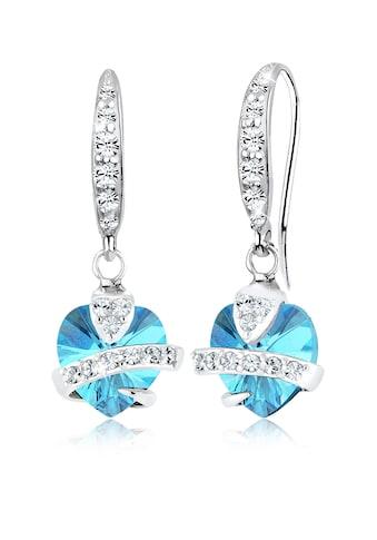 Elli Paar Ohrhänger »Hänger Herz Symbol Swarovski® Kristalle 925 Silber« kaufen