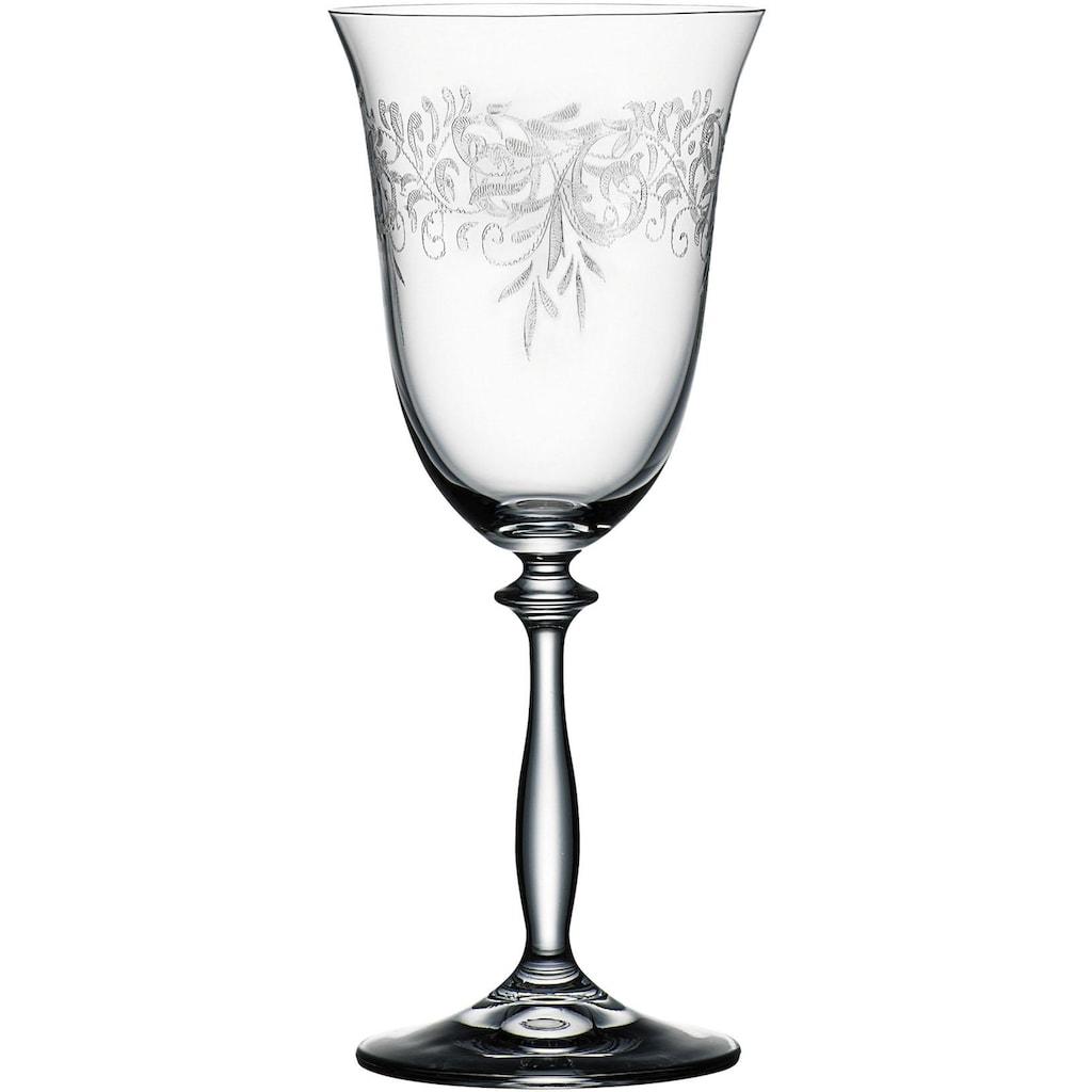 BOHEMIA SELECTION Weinglas »ROMANCE«, (Set, 6 tlg.), 6-teilig