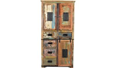 SIT Stauraumschrank »Jupiter«, aus recyceltem Altholz, Höhe 180 cm, Shabby Chic, Vintage kaufen