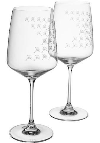 Joop! Rotweinglas »JOOP! FADED CORNFLOWER«, (Set, 2 tlg.), mit Kornblumen-Verlauf als... kaufen