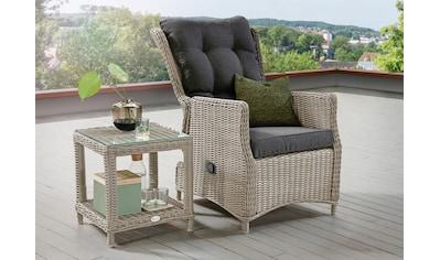 DESTINY Gartenmöbelset »Casa/Merano«, 4 - tlg., Sessel, Tisch 46x46 cm, Alu/Polyrattan kaufen