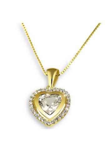 goldmaid Collier Gelbgold 585 Herz Diamanten Weißtopas kaufen