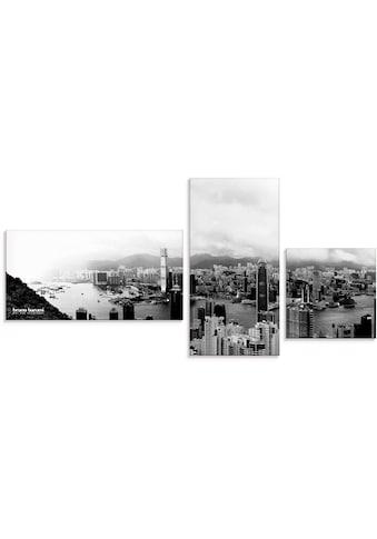 Bruno Banani Glasbild »Skyline von Hongkong«, Asien, (3 St.) kaufen