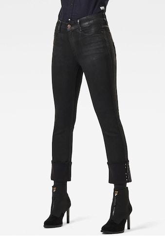 G-Star RAW Straight-Jeans »Noxer Navy High Straight Jeans«, mit Umschlagsaum und... kaufen